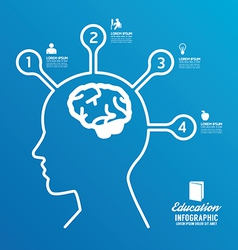 brain design diagram line infographics vector image vector image
