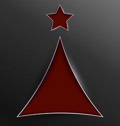 Christmas tree triangle cut of paper vector image vector image