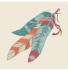 Decorative feathers vector