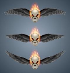 Flaming mutant skulls vector