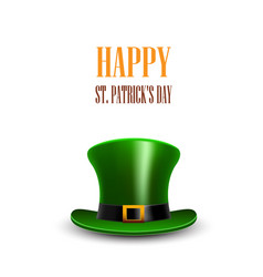 Green st patrick day hat stpatrick day greeting vector