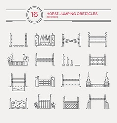Horseriding icons vector