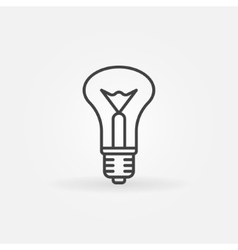 Incandescent bulb icon vector image vector image