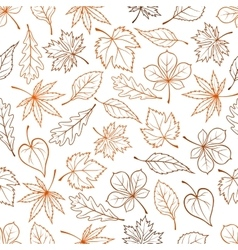 Leaves seamless pattern background vector image vector image