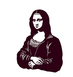 Mona lisa smile renaissance art vector