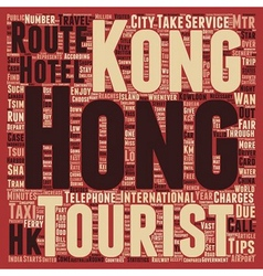 Must know travelers tips to hong kong text vector