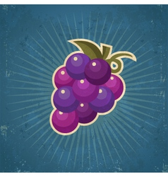Retro grape vector
