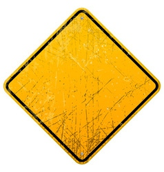 Rusty Yellow Sign vector image vector image