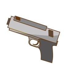silver pistol police icon image vector image