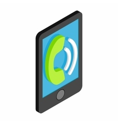Smartphone rings 3d isometric icon vector image