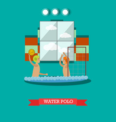 Water polo concept in flat vector