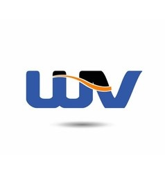Wv company linked letter logo vector