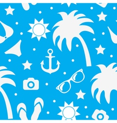 Beach seamless texture summer background season vector