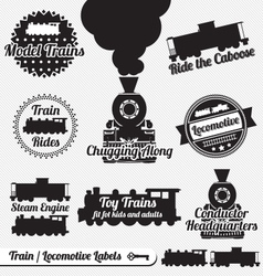 Trains Labels vector image