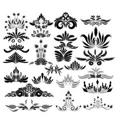 sel of design elements vector image