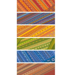 Ethnic ornamental banners set vector