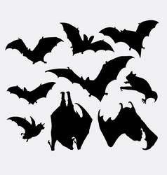 Bat animal silhouette vector
