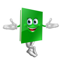 cartoon book mascot vector image
