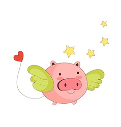 A flying pig vector