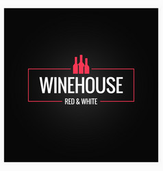 Wine bottles logo design background vector