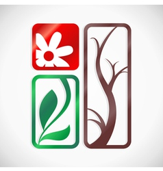 Symbol of nature vector image