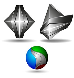 3d symbol creative design set vector image