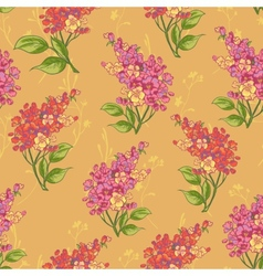 Seamless background with bouquets of wildflowers vector image