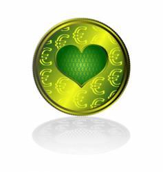 Euro heart vector