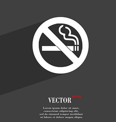 No smoking icon symbol flat modern web design with vector