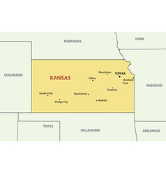 Kansas - map vector