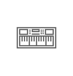 Synthesizer line icon vector