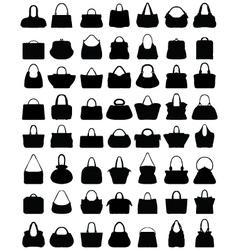silhouettes of handbags vector image