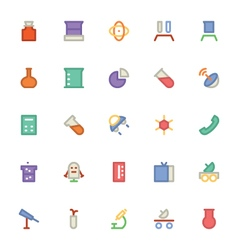 Science colored icons 5 vector