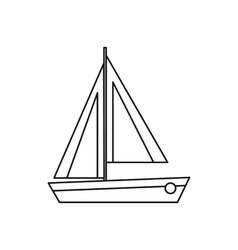 Small boat icon outline style vector