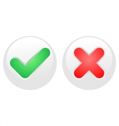 Yes-no white buttons vector