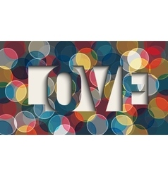 Abstract romantic love vector