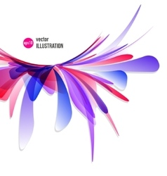 abstract splash of red and blue spots vector image vector image
