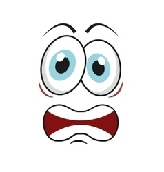 angry cartoon icon vector image