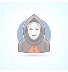 Anonym stranger maskman mysterious man icon vector
