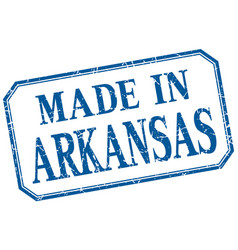 Arkansas - made in blue vintage isolated label vector
