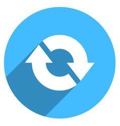 Arrow sign refresh icon circle button vector