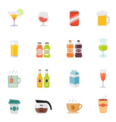Beverage icon full color flat icon design vector image