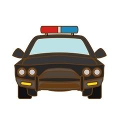 car police icon image vector image