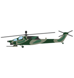 Cartoon helicopter military equipment icon vector
