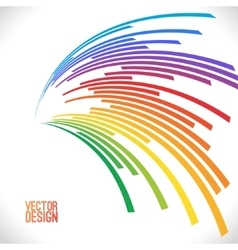 Colorful lines background vector image vector image