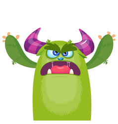 cute cartoon monster vector image vector image