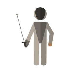 Fencing player sport athlete vector
