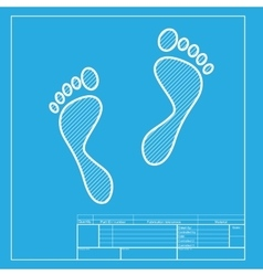 Foot prints sign White section of icon on vector image vector image