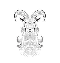 goat tattoo vector image