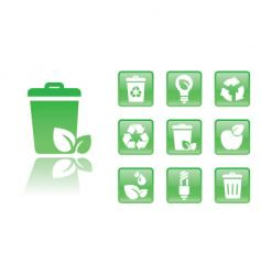 green icons trash vector image vector image